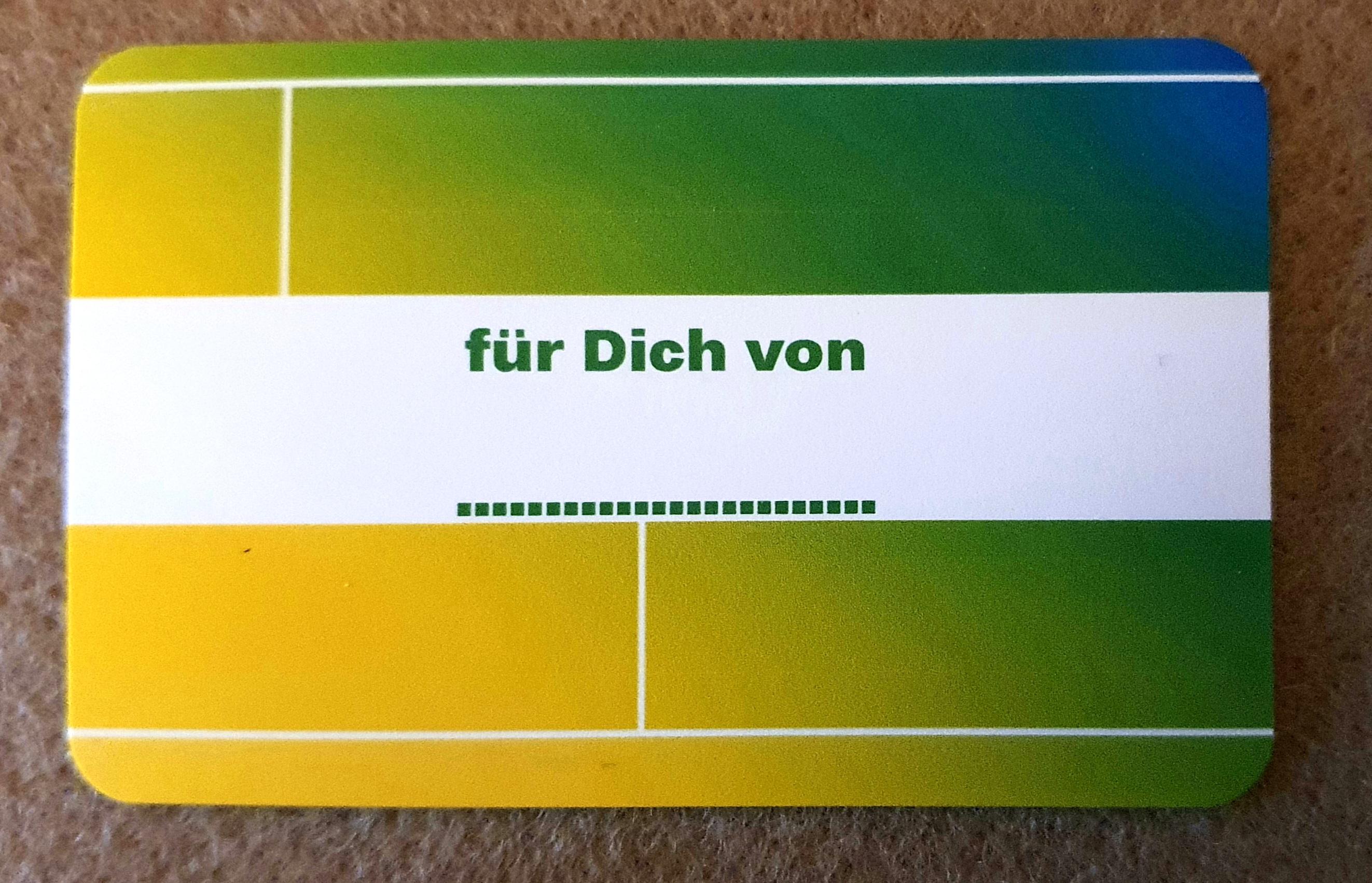 """Karte """" für Dich von """""""