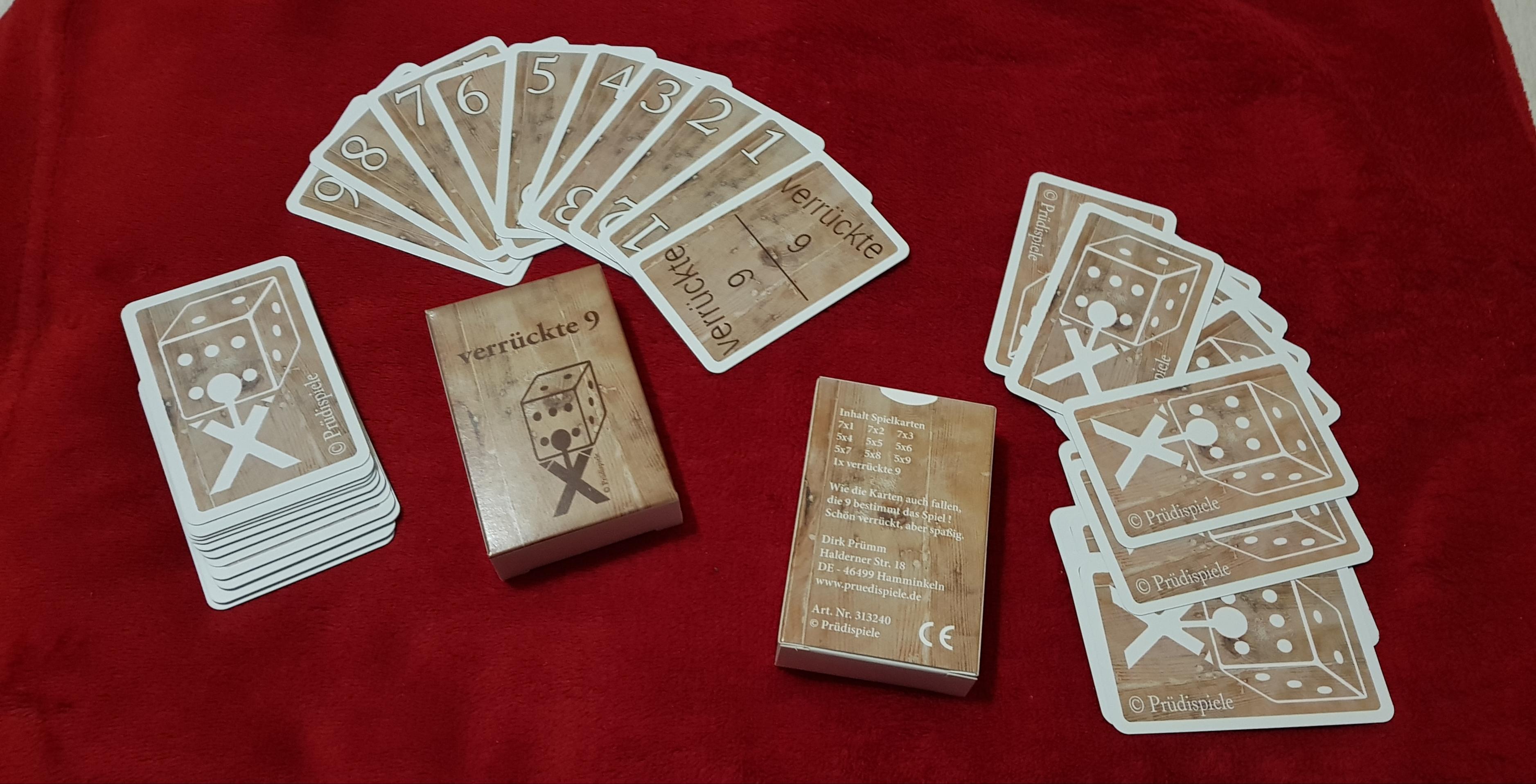"""Kartenspiel """"verrückte 9"""""""